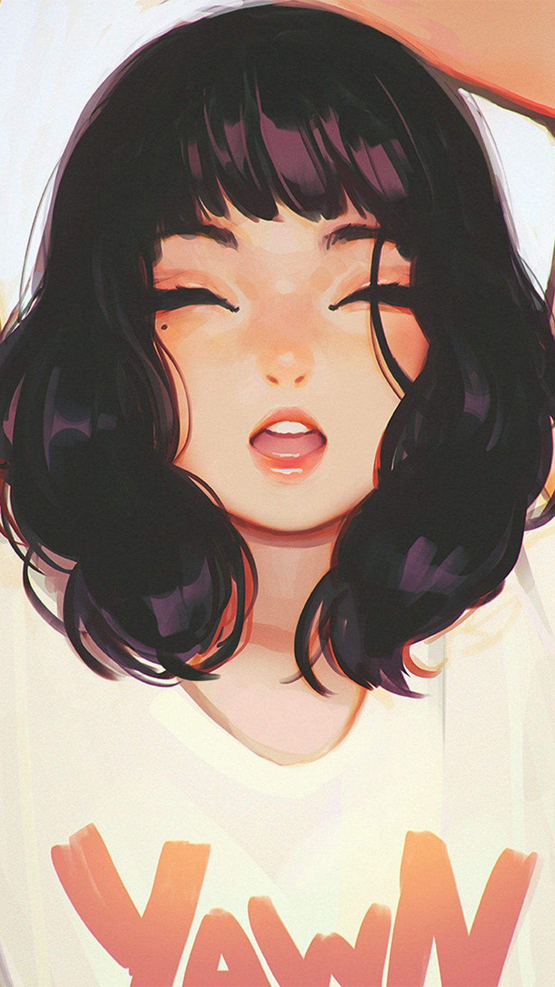 Girl Smile Ilya Kuvshinov Illustration Art iPhone 8