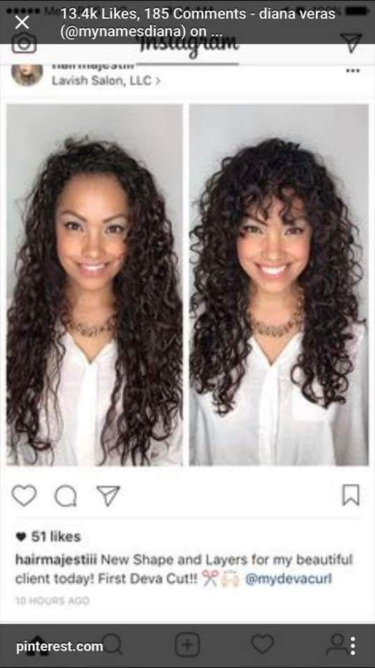 Pin By Mia Wead On Curly Hair Hair Styles Curly Hair With Bangs Curly Hair Styles Naturally