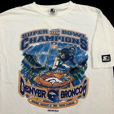 Vintage 90s Starter Single Stitch T Shirt XL Super Bowl Denver Broncos Champions #fashion #clothing #shoes #accessories #men #mensclothing (ebay link)