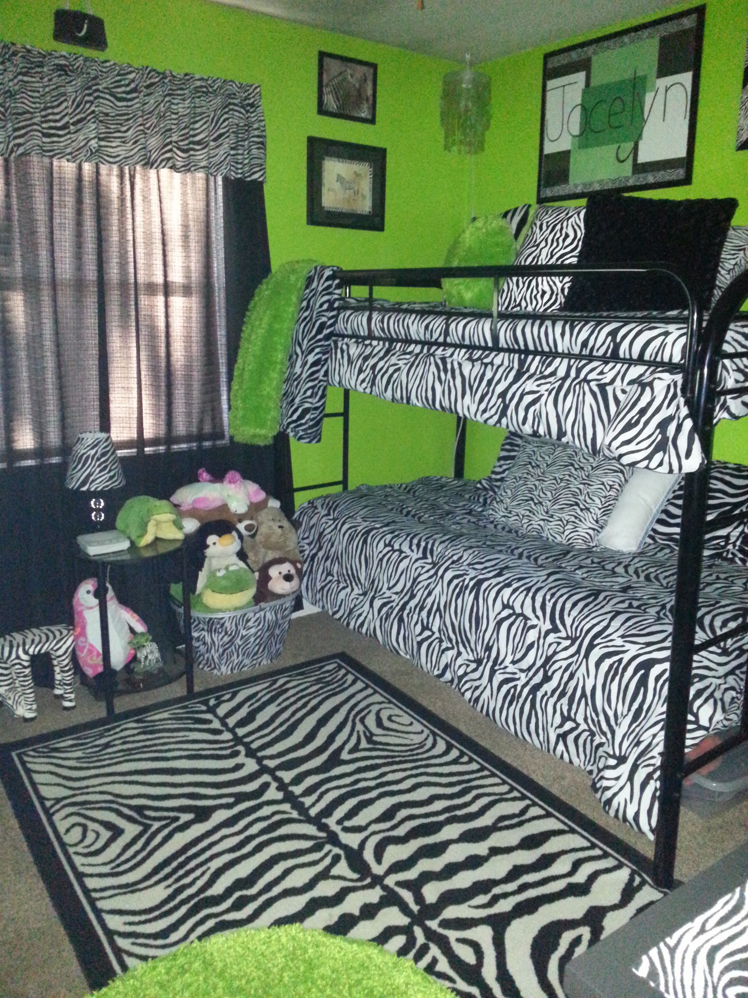 zebra print and lime green bedroom | kid's room | pinterest | lime