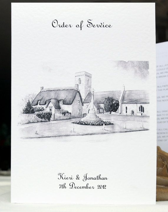 Fully Personalised Quality A5 Order Of Service Wedding Ceremony Covers Includes Printed Black White