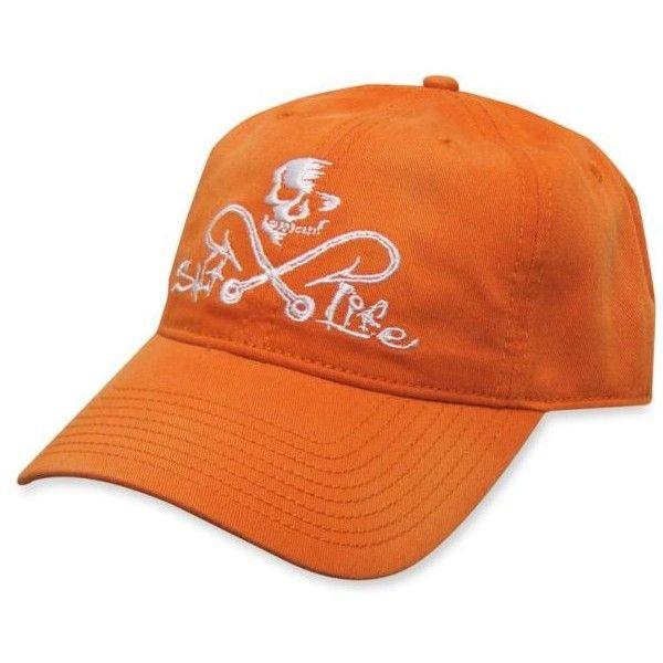 f96cf46e Salt Life Orange Skull Hooks Hat ($18) ❤ liked on Polyvore featuring men's  fashion, men's accessories, men's hats, orange and salt life