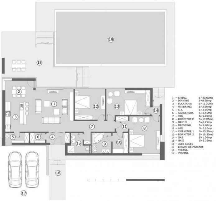 Casa minimalista una planta planos de casas modernas for Arquitectura de casas modernas de una planta