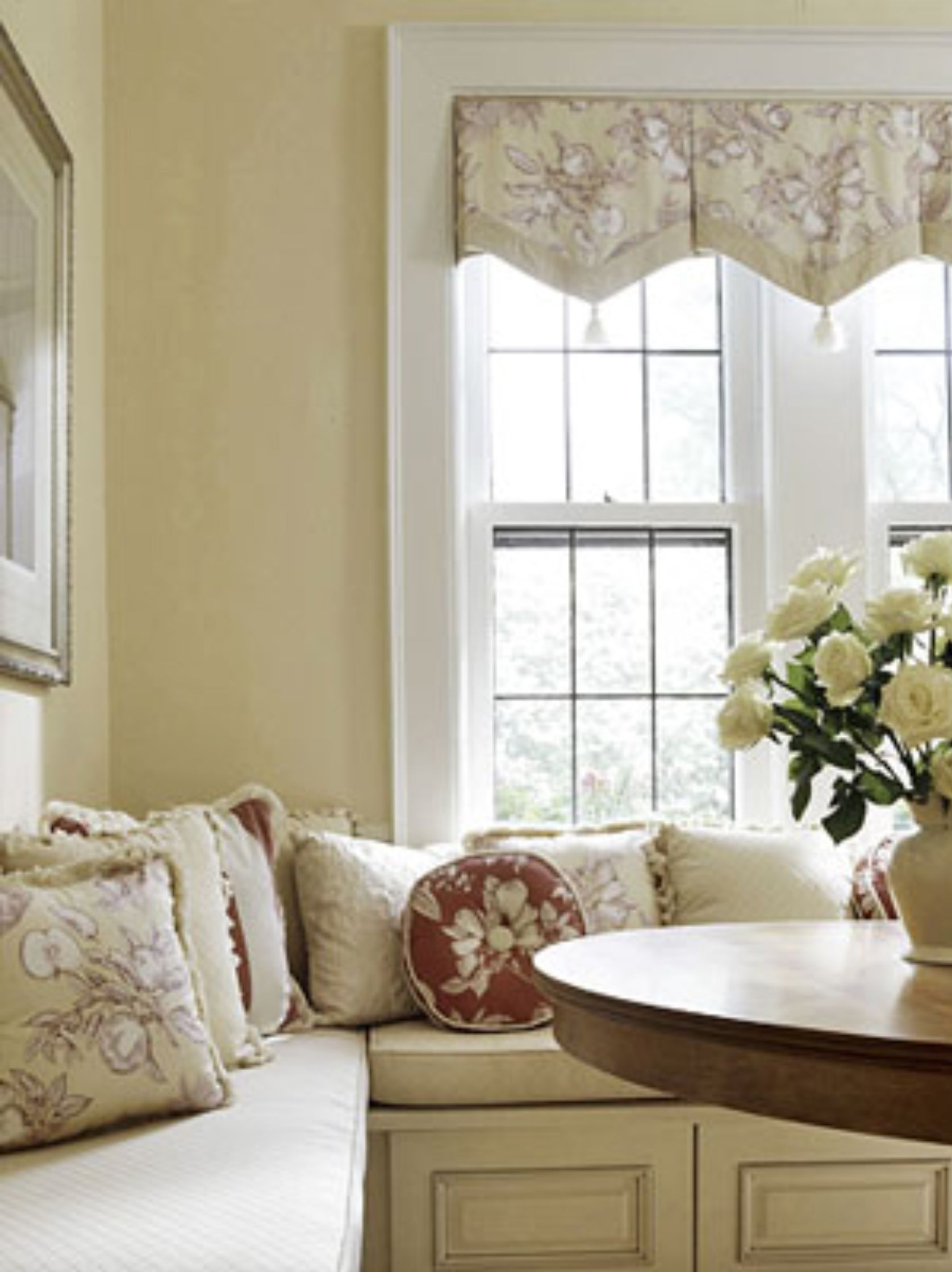 Window Treatment The Laurel Hedge My Beautiful Banquette