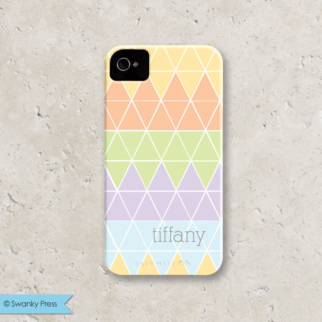 Personalized iPhone 5 Case, Geometric Triangles. $40.00, via Etsy.
