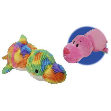 16 inch Seal to Rainbow Dolphin FlipaZoo 2 in 1 Plush, Multicolor ...