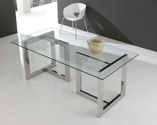Mesas de comedor modernas de cristal buscar con google - Mesas modernas de cristal ...