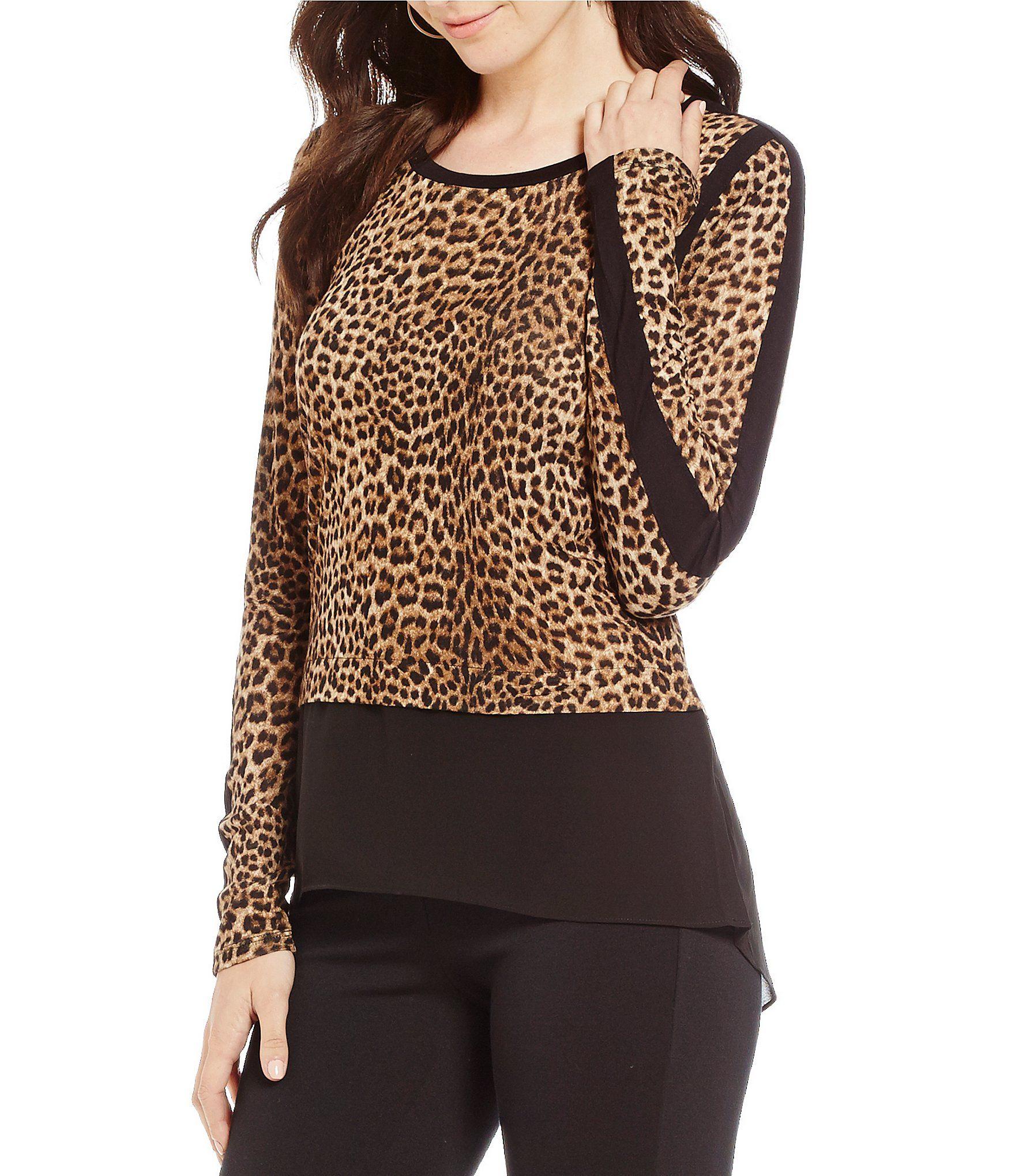 d927795a56 Shop for MICHAEL Michael Kors Persian Leopard Print Knit Jersey Hi-Low  Georgette Hem Tunic at Dillards.com. Visit Dillards.com to find clothing