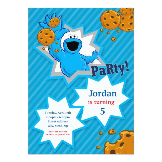 Cookie Monster Birthday Card Cookie Monster Monsters And Birthdays