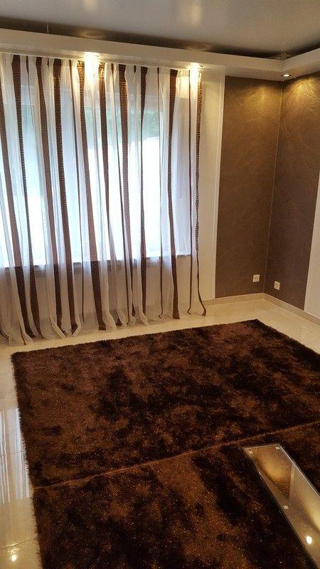 Gardine vorhang wohnzimmer schlafzimmer braun gold - gardinen und vorhänge für wohnzimmer