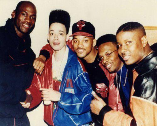 Michael Jordan, Christopher Reid, Will Smith, DJ Jazzy, Jeff y Christopher Martin