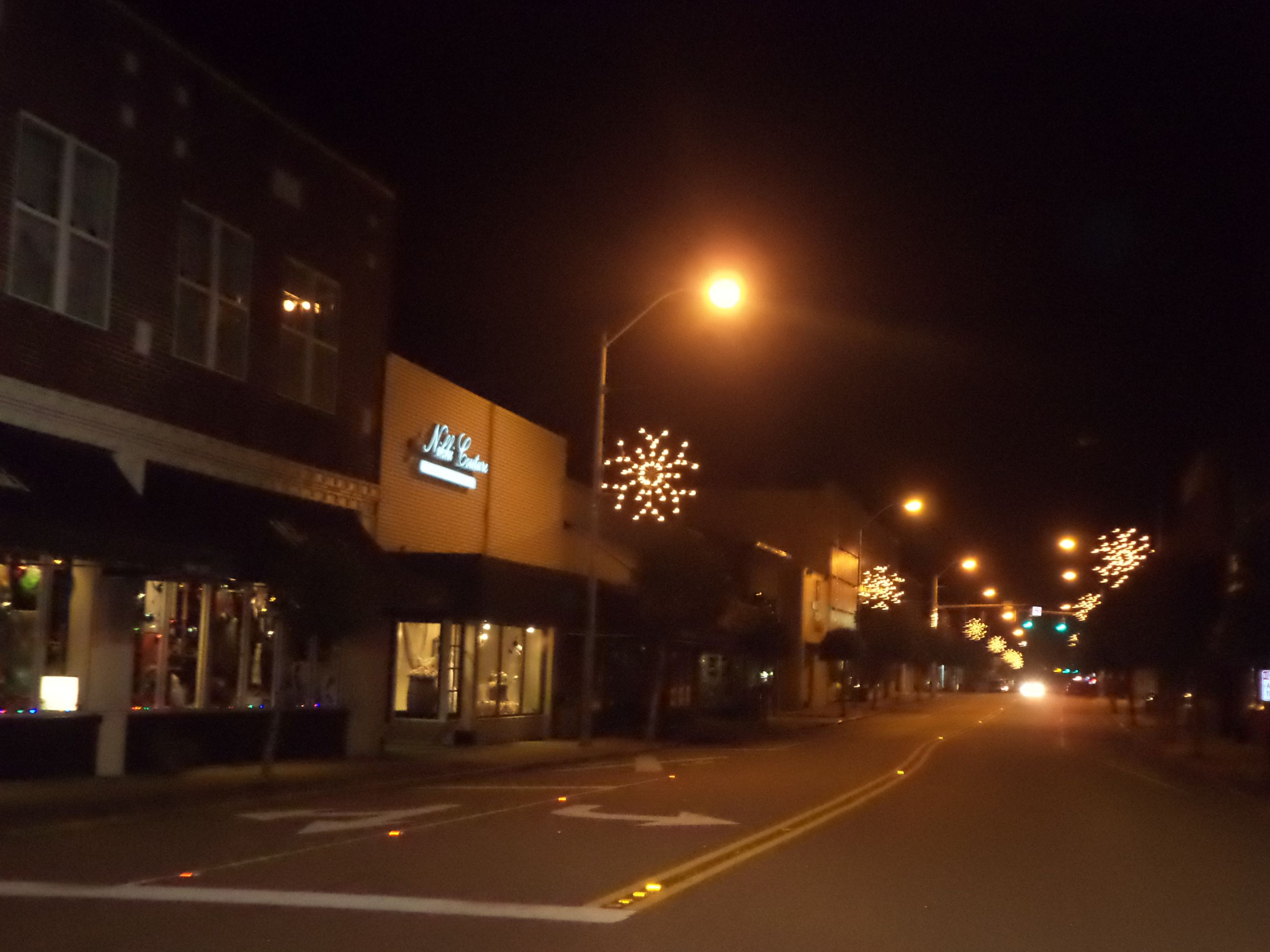 Downtown Whiteville, NC Jesus birthday, Time of the year