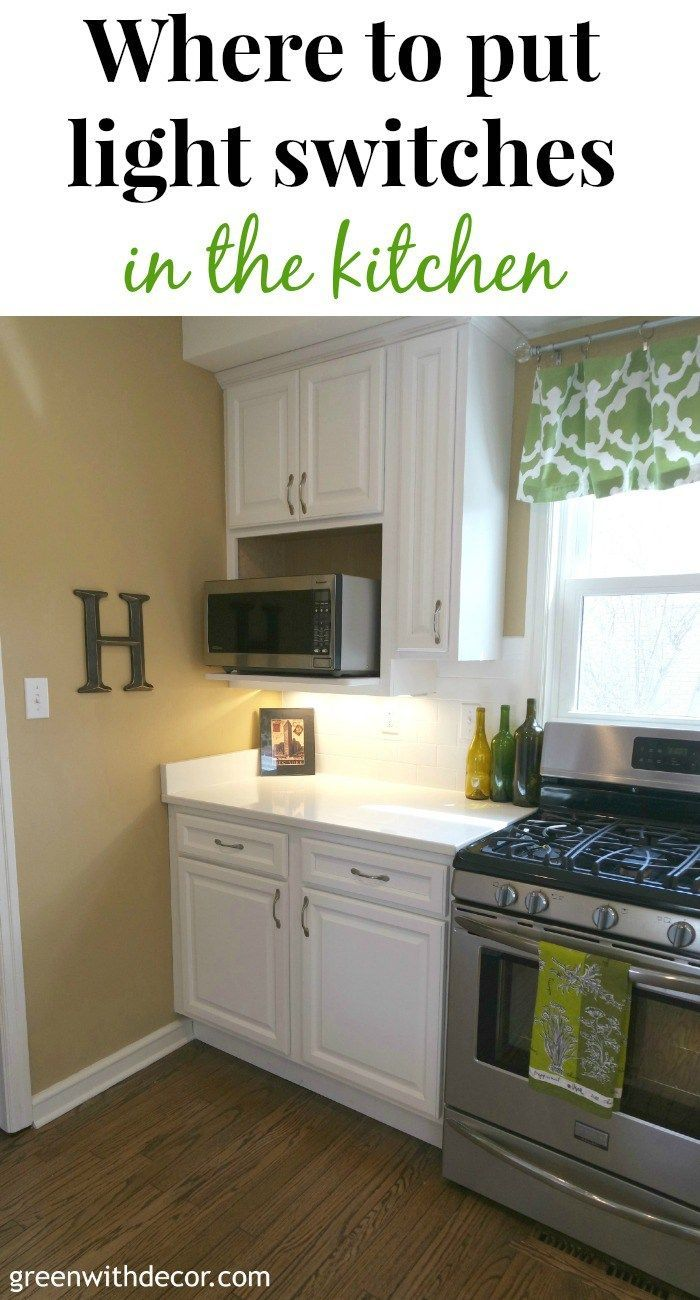 Where to put light switches in the kitchen Kitchen