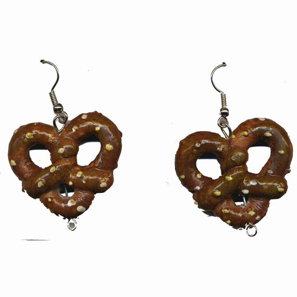 Halloween Forum Novelties Oktoberfest Pretzel Costume Earrings, Women's, Brown #octoberfestfood