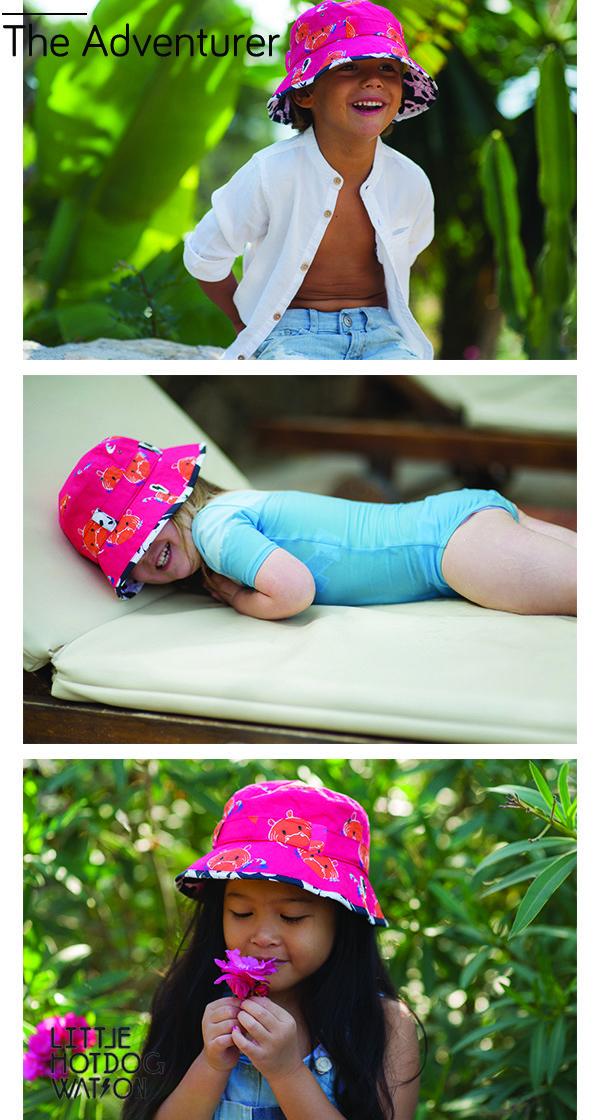 c426c8f3deb  littlehotdogwatson - Adventurer Hip Pink. Super soft luxury cotton bucket  hat. A