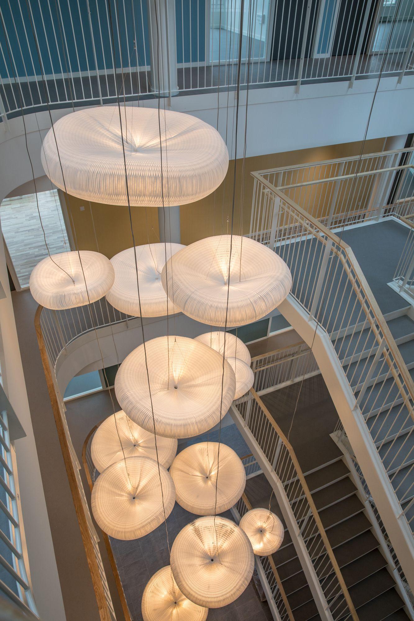 Fantastisk cloud lamps from @molostudio. Ceiling lamp, pendant, acoustic lamp DG42