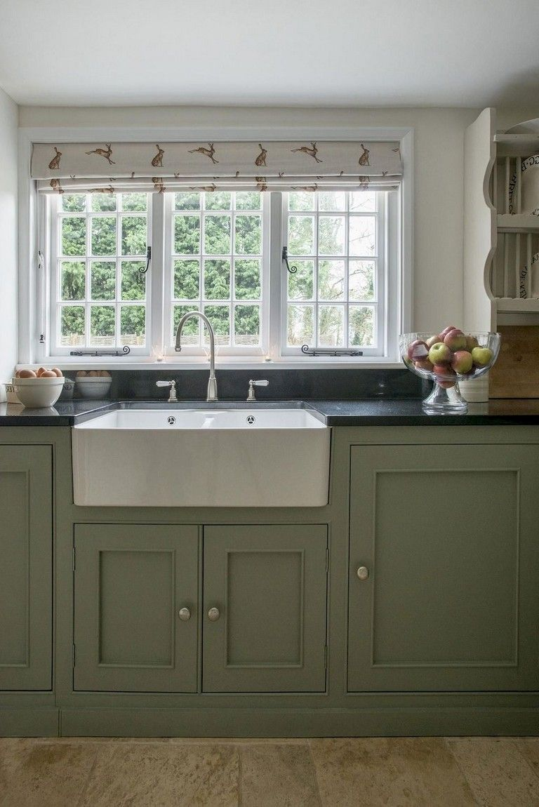 70 beautiful farmhouse kitchen curtains decor ideas cottage kitchen cabinets on farmhouse kitchen valance ideas id=76601