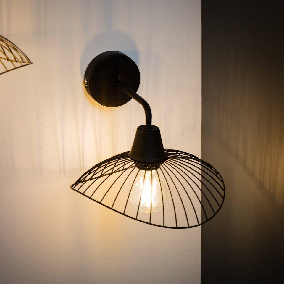 Applique Design Métal Noir Seynave Kasteli 1 Lumières