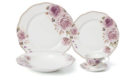 Vintage Pink Rose SHabby Chic Dinnerware Pink Peony Bone  sc 1 st  Pinterest & Vintage Pink Rose SHabby Chic Dinnerware Pink Peony Bone | SHABBY N ...