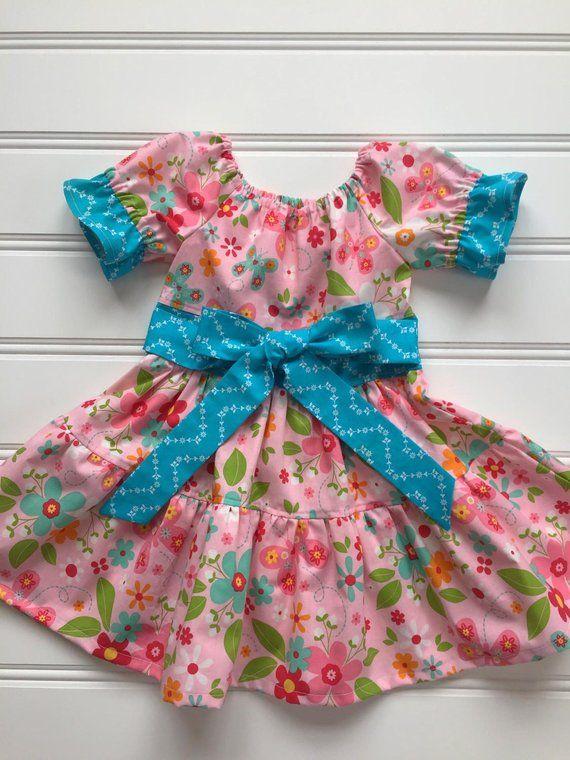 9ffdf32d75d Floral Easter Dress for Girl