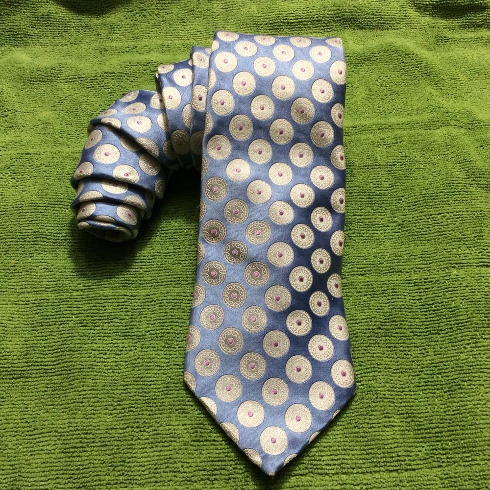 Ike Behar New York Multicolored Geometric Tie