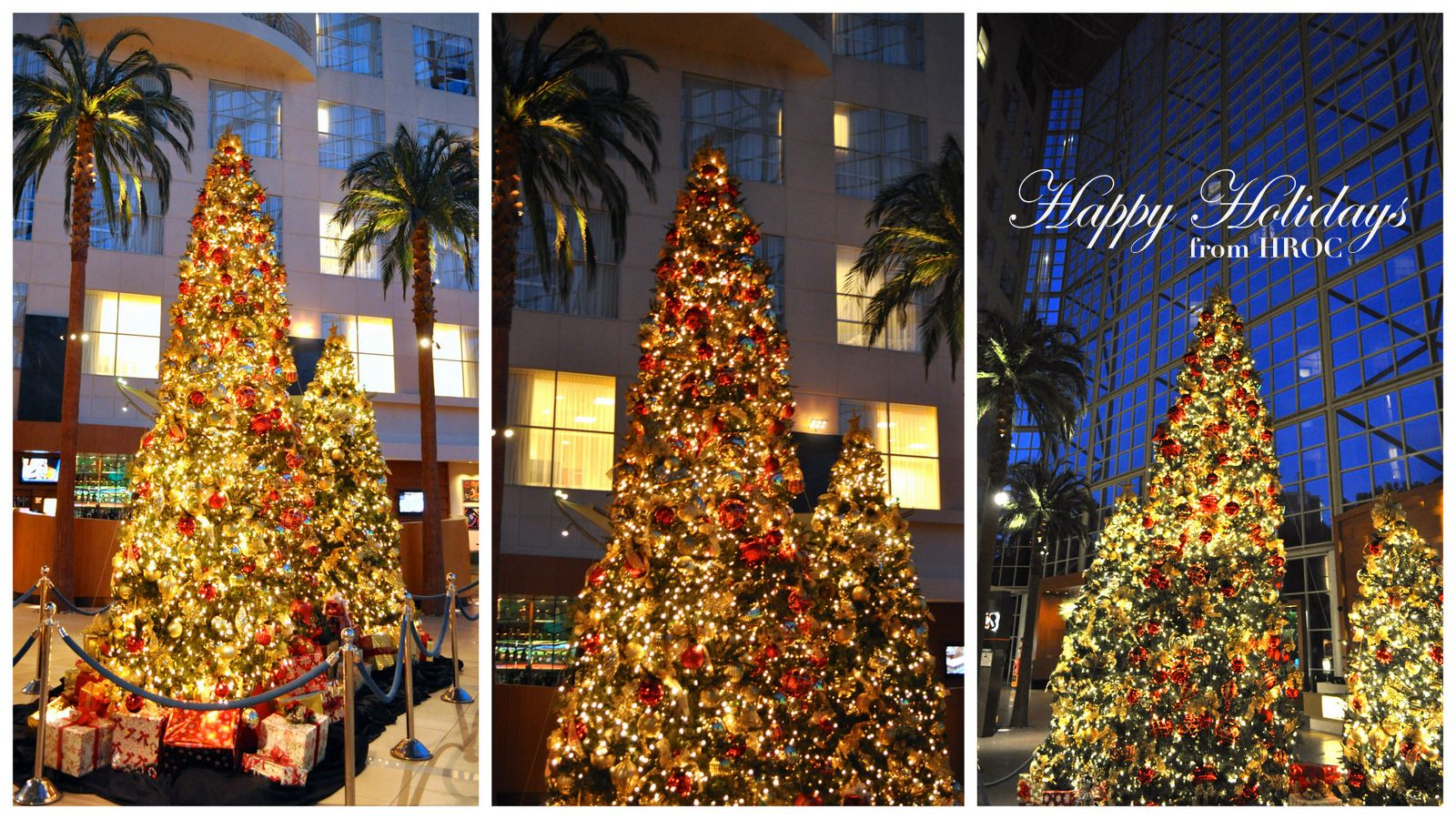 The lobby at Christmas Time.