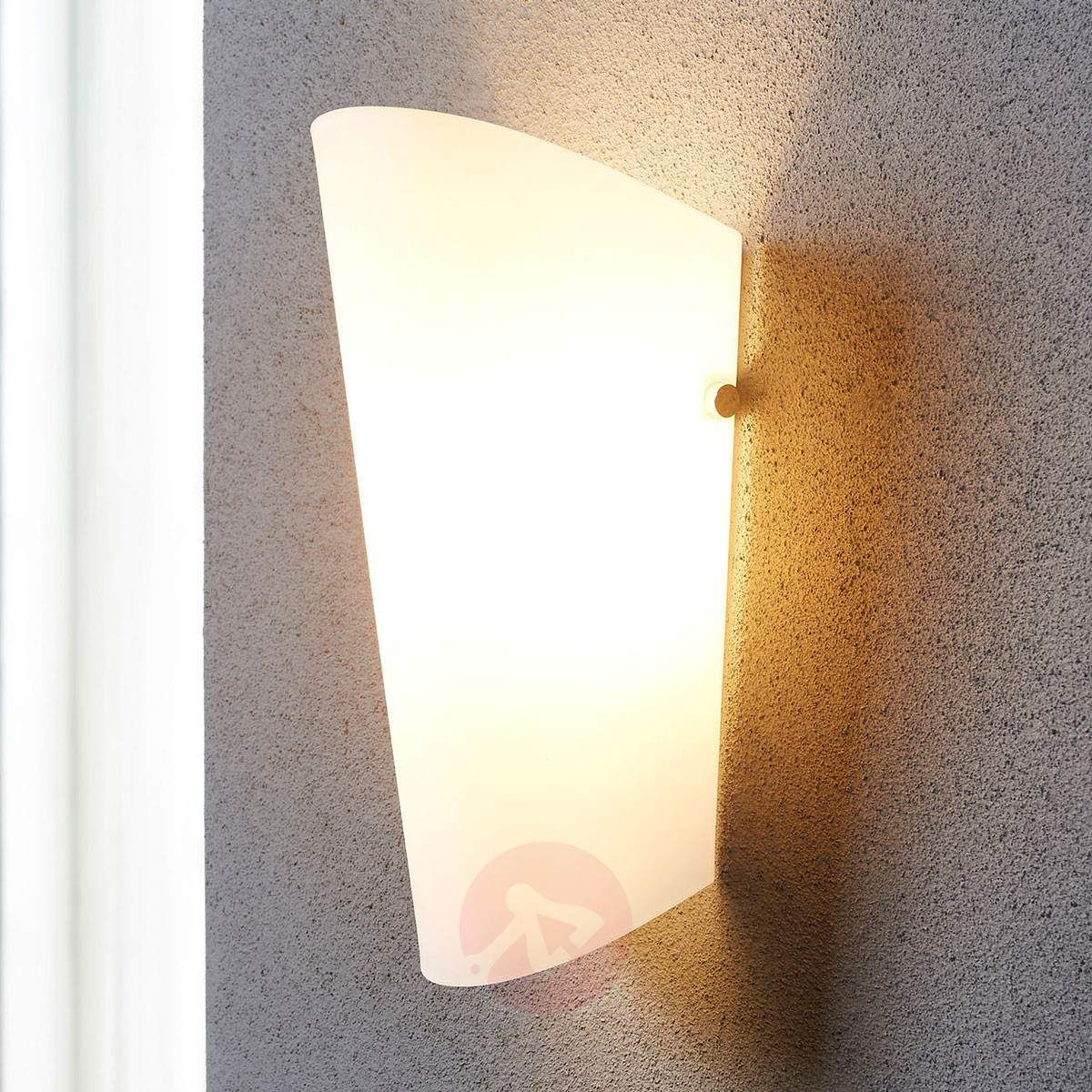 Aurora Elegant Wall Lamp With A Glass Lampshade Lamp Shades Wall Lights Glass