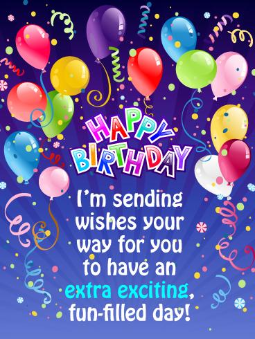 Fun Filled Day Happy Birthday Card Birthday Greeting Cards By Davia Birthday Greeting Cards Happy Birthday Wishes Cards Happy Birthday Greetings