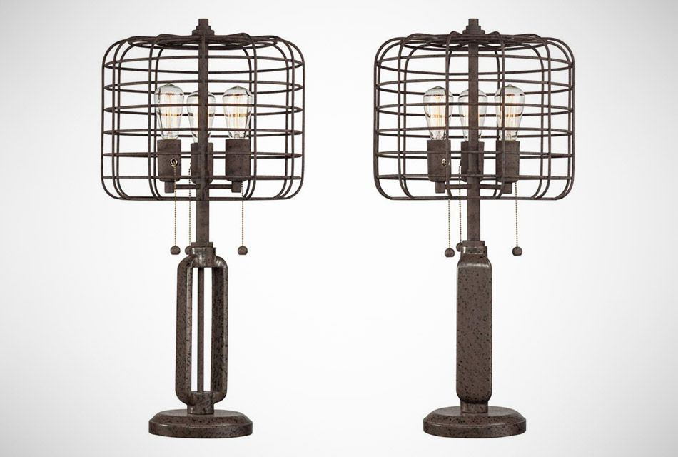 Industrial Cage Table Lamp, These Are Too Neat!