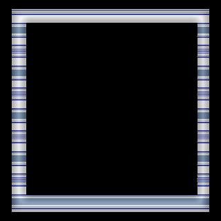 Free Digital Scrapbook Element: Square Blue Stripe Frame |