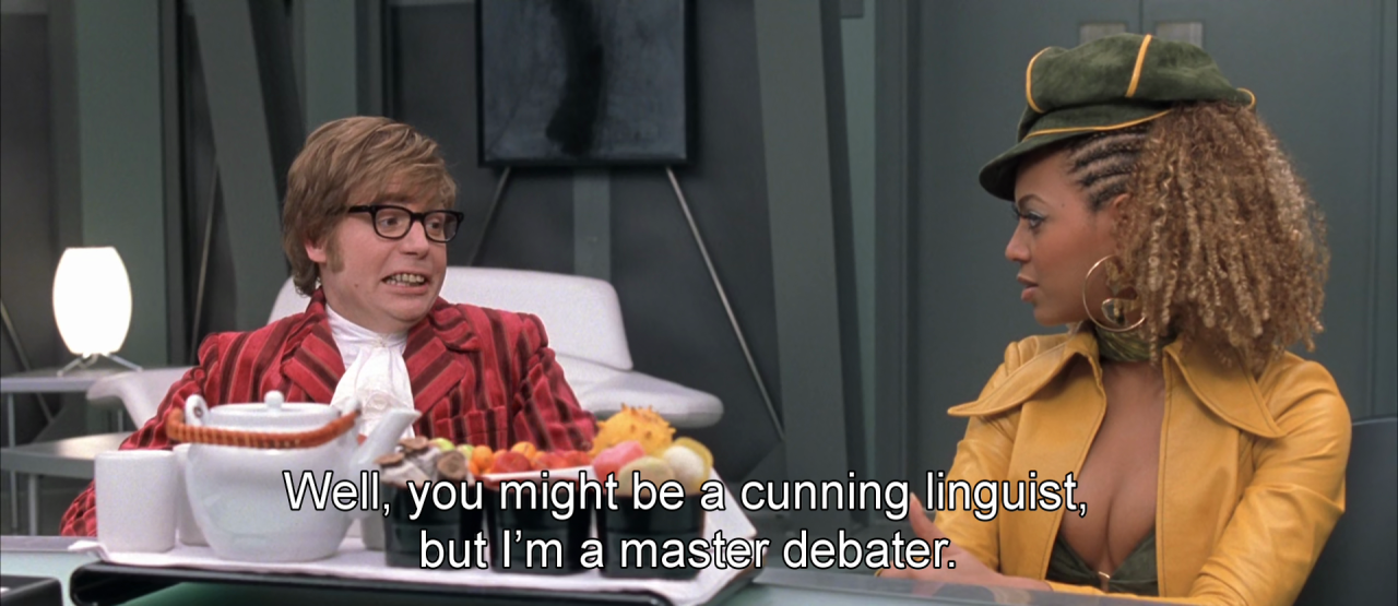 The 21 Best Austin Powers One Liners Austin Powers Austin Powers Goldmember Austin Powers Quotes