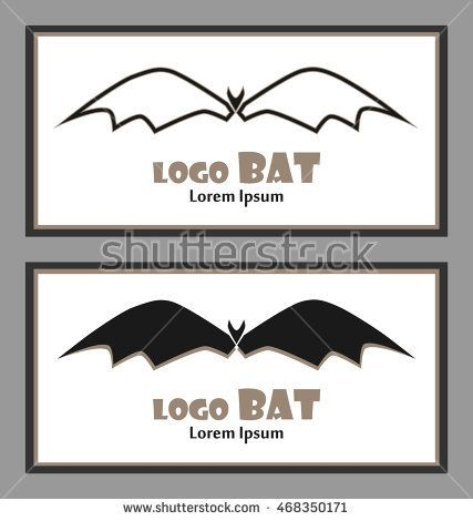 Set of polygon abstract bat business card with abstract bat business card with abstract bat reheart Gallery