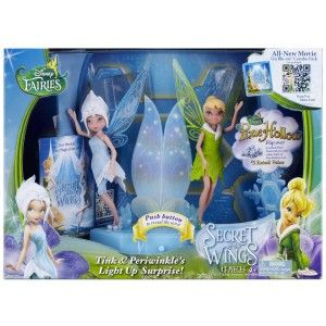 Periwinkle and Tink's Light Up Surprise These are mini figures that can be used with the other mini figures from the Tinker Bell DVD series. BE CAREFUL when opening the box, there's a big snowflake design in the background that you snap into the plastic base.