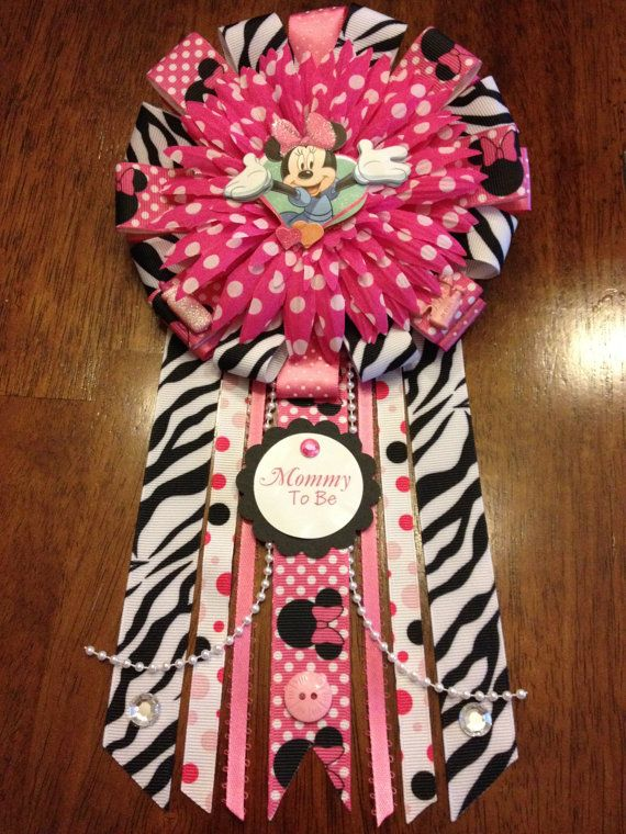 Minnie Mouse Themed Mommy To Be Corsage Holiday Shopping Ideas