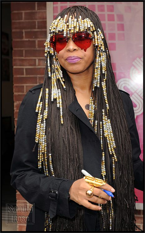 Image result for braids with beads | Hair Did..Nails Did ... Erykah Badu Box Braids