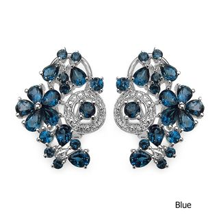 @Overstock.com - Malaika Sterling Silver Blue Topaz Earrings - These blue topaz earrings are made from sterling silver with a rhodium finish, providing long-lasting wear and style. With topaz stones in pear and round cuts and a gemstone weight of 9.5-carats, these earrings are sure to dazzle at any formal event.   http://www.overstock.com/Jewelry-Watches/Malaika-Sterling-Silver-Blue-Topaz-Earrings/6794335/product.html?CID=214117 $75.67