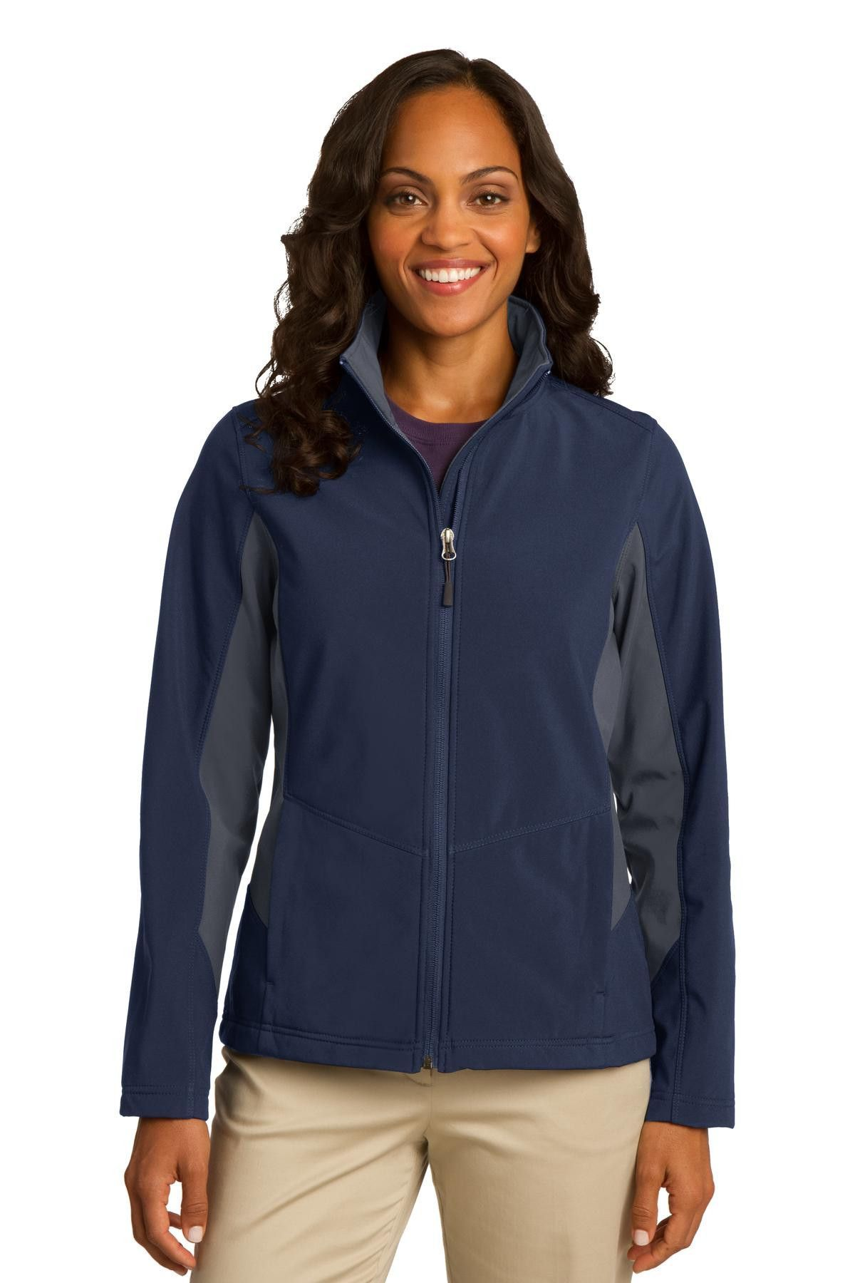 Port Authority Ladies Core Colorblock Soft Shell Jacket L318 Dress ...