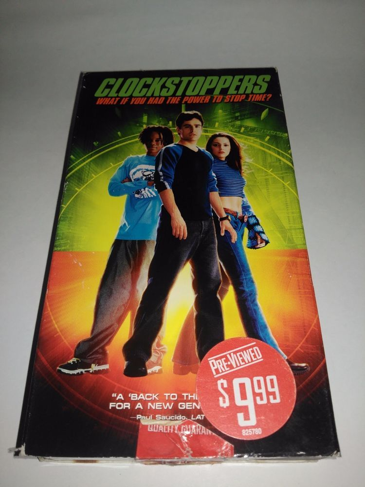 Clockstoppers Vhs 2002 Nickelodeon Childrens Vcr Tape Movie Vhs Vcr Tapes Movies