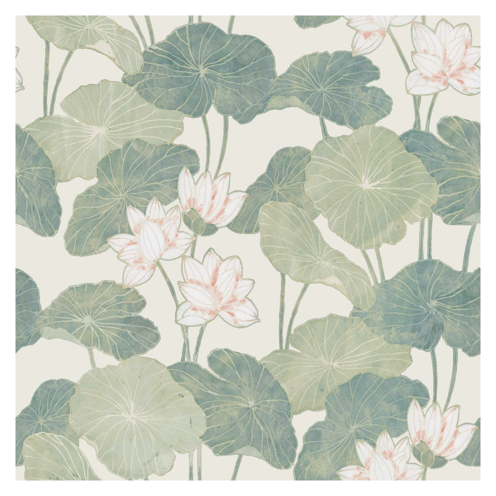 Dardanelle Lily Pads Peel And Stick Wallpaper Roll Peel And Stick Wallpaper Lily Pads Wallpaper