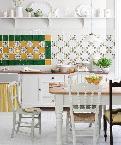Kitchen Tiles Moroccan moroccan black and white painted concrete tile | kitchen
