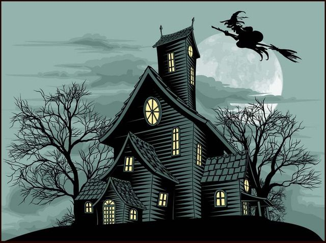 Web Development Haunted House Drawing Ghost House Spooky House