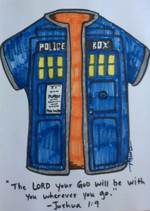 Joseph and the #Tardis colored Dreamcoat #DrWho #Church