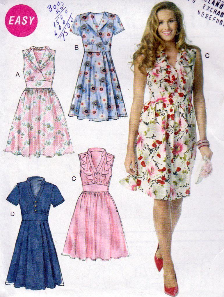 Mccalls 6503 Plus Size Pullover Dress Pattern V Neckline