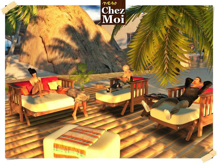 Summer Chil Mulitposes CHEZ MOI #secondlife #chezmoi #decor #mesh #home #furnitures #romance #garden