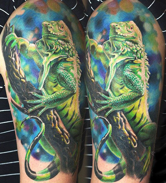 Evil Chameleon Tattoo: Chameleon Tattoo By Dmitriy Urban