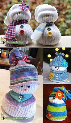 Снеговик из носка своими руками / Подарки, сувениры и. - Pinterest 10