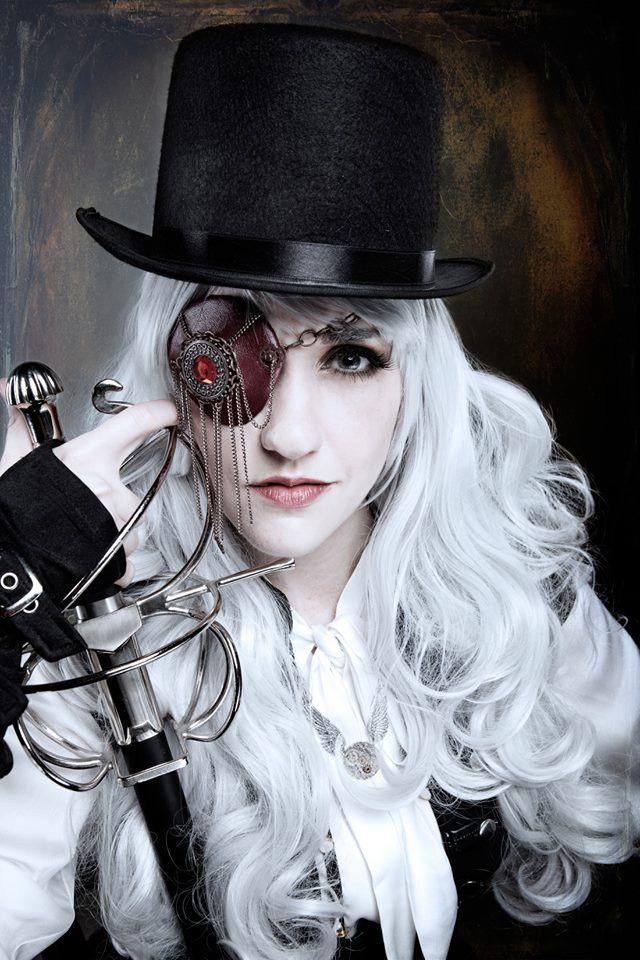 Scarlet Steampunk Swashbuckler Eye Patch Adult by TheOddCog, $40.00