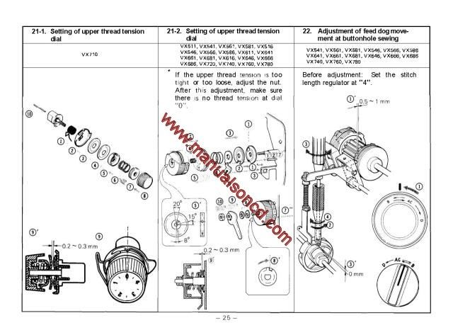Brother VX Series Sewing Machine Service Manual Sewing Machine Inspiration How To Set The Tension On A Brother Sewing Machine