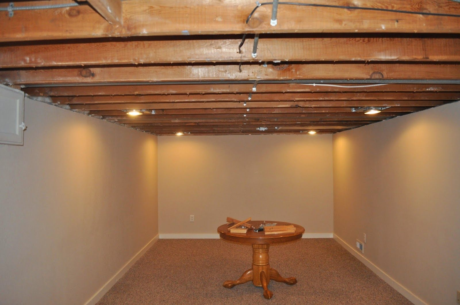 Painting A Basement Ceiling With Images Exposed Basement Ceiling Basement Ceiling Basement Ceiling Ideas Cheap