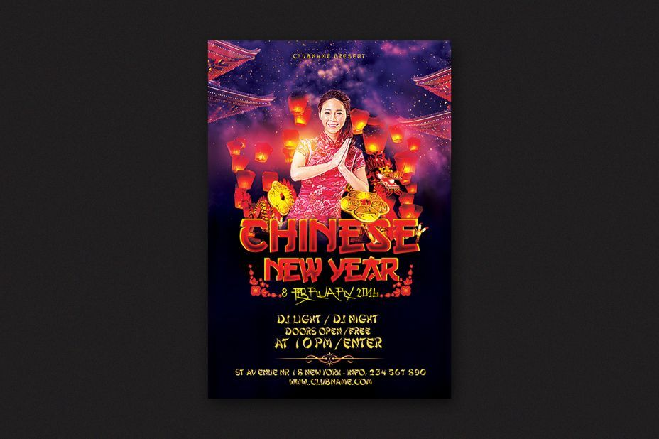 15+ New Year Flyer Template PSD for Club, Eve, Party and DJ 15+ - free new years eve flyer template